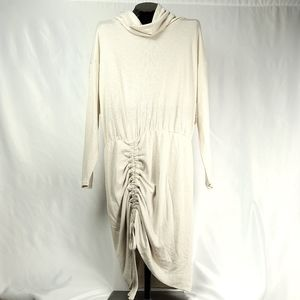 Free People Cream Maxi Tunic Rushed Dress Med